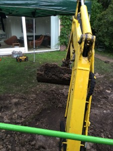 tuin afgraven